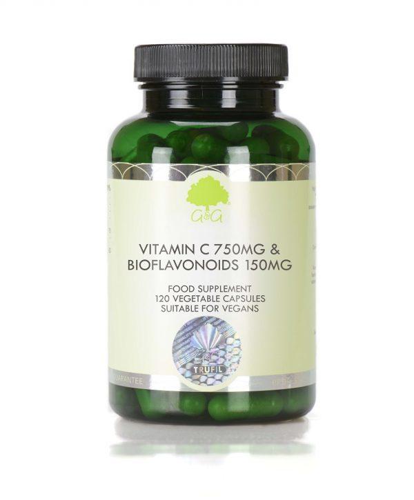 Vitamin C 750mg & Bioflavonoids 150mg - 120 Capsules