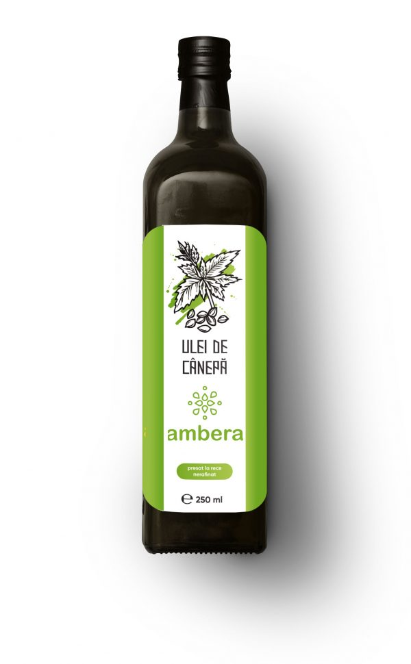 Конопляное масло холодного отжима (ulei presat la rece din seminte de canepa)