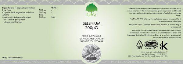 Selenium 200µg - 120 Capsules