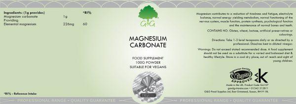 Magnesium Carbonate - 100g Powder