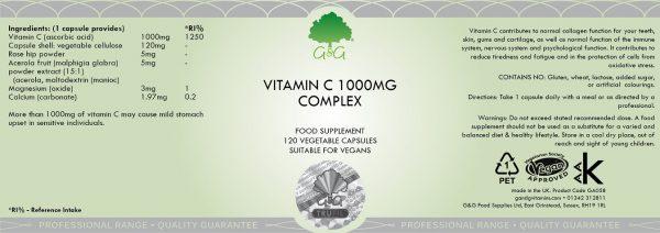 Vitamin C Complex 1000mg - 120 Capsules