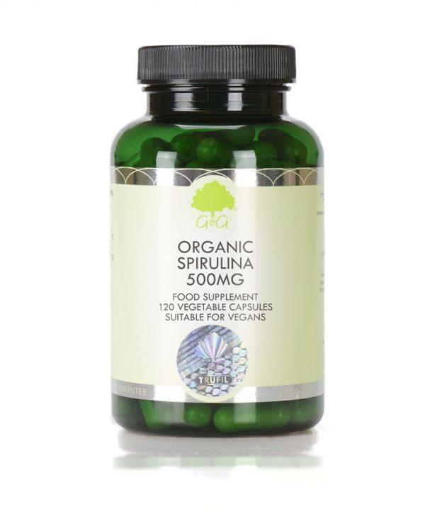 Organic Spirulina 500mg - 120 Capsules