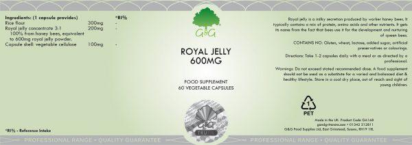Royal Jelly 600mg - 60 Capsules