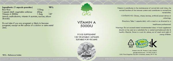 Vitamin A (retinol) 5000iu