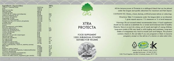 Sublingual Multivitamin Xtra Protecta - 100g Powder