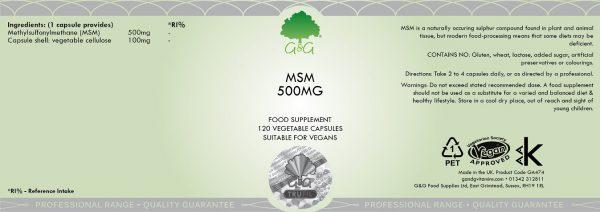 MSM 500mg - 120 Capsules